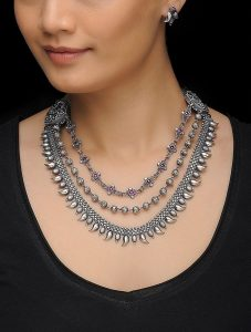 Silver Oxidised Jewellery Set